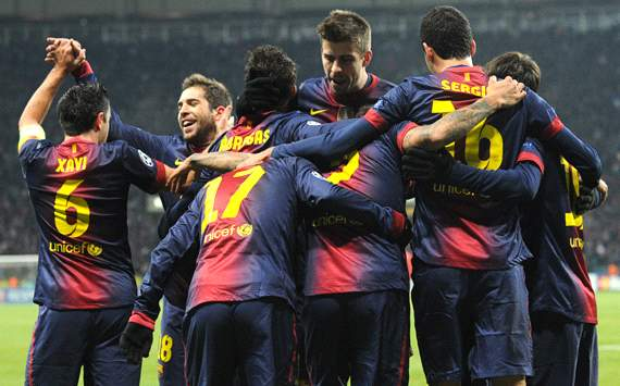 UEFA Champions League, Barcelona football team's players