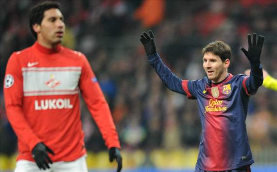 Messi; Spartak - Barcelona; Champions League 2012/2013
