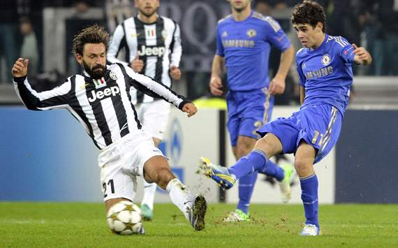 Pirlo &amp; Oscar - Juventus-Chelsea - Champions League