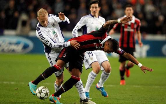  Olivier Deschacht e Kevin-Prince Boateng - Anderlecht-Milan