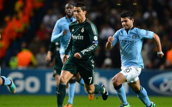 CL - Manchester City FC v Real Madrid, Cristiano Ronaldo and Sergio Aguero