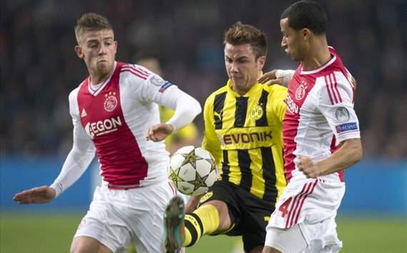 Toby Alderweireld, Mario Götze and Ricardo Van Rhijn (Ajax - Borussia Dortmund)