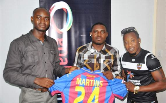 Winner claims signed Obafemi Martins Levante jersey