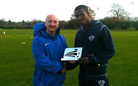 Zaha named Football League Young Player of the Month for October