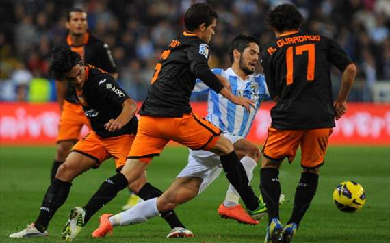 Malaga were spectacular in win over Valencia, says Isco