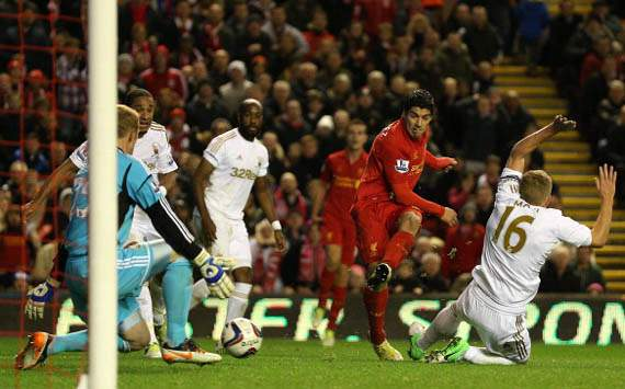 Luis Suarez,Liverpool v Swansea City 