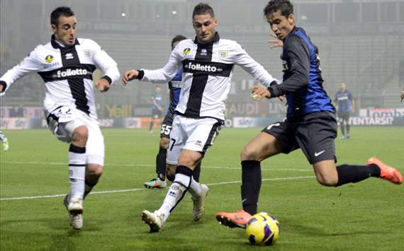 Marchionni (P), Rosi (P), Ricardo Alvarez (I) - Parma-Inter - Serie A