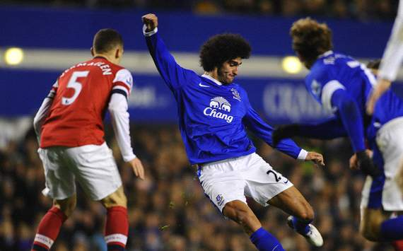 EPL: Marouane Fellaini, Everton v Arsenal