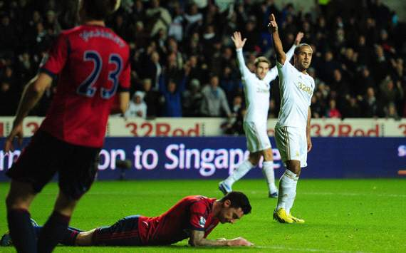 EPL:  Wayne Routledge, Swansea City v West Bromwich