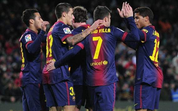 Barcelona celebrating against Alavés