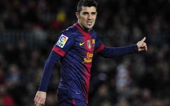 David Villa is sad and out of favour, but set to stay at Barcelona until the summer