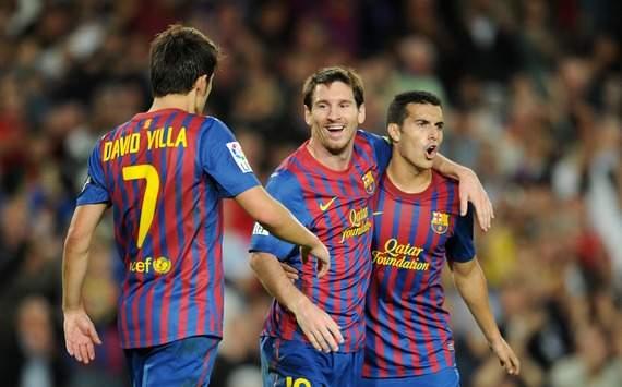 David Villa, Lionel Messi, Pedro Rodriguez (Barcelona)
