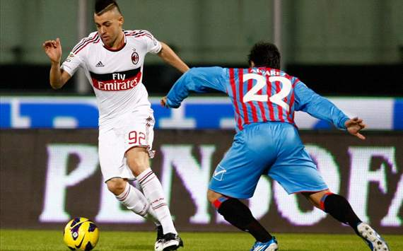 Stephan El Shaarawy (M), Pablo Alvarez (C) - Catania-Milan - Serie A