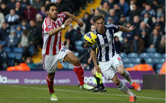 EPL - West Bromwich Albion v Stoke City, Markus Rosenberg and Ryan Shotton