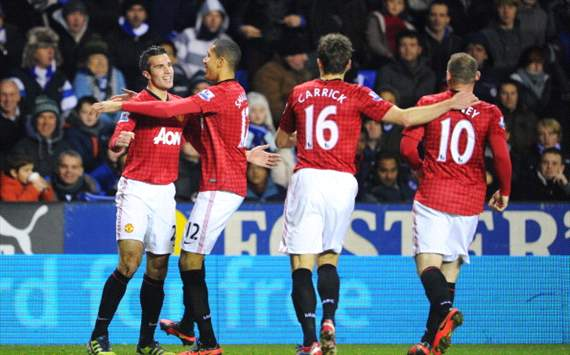 Hasil Pertandingan Manchester United vs Reading 1 Desember 2012
