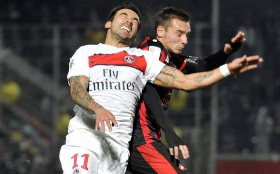 Ligue 1 : Ezequiel Lavezzi vs Eric Bauthéac (OGC Nice vs Paris SG)