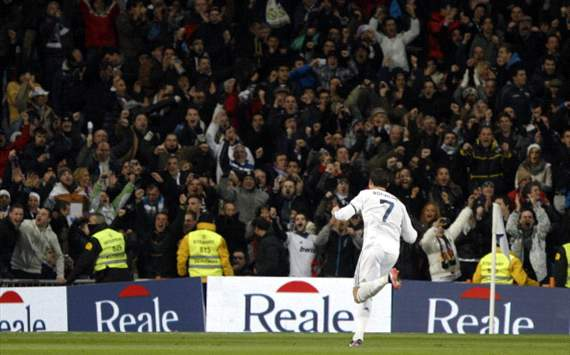 Cristiano Ronaldo celebra su gol al Atltico de Madrid