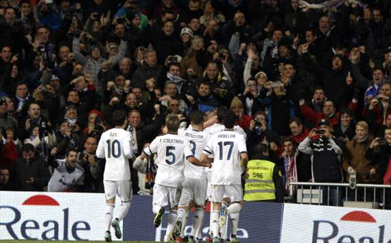 Real Madrid celebra en el derbi ante Atlético de Madrid