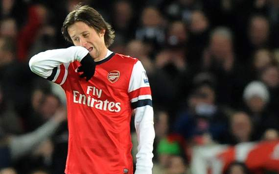 TEAM NEWS: Rosicky &amp; Meade handed starts for Arsenal against Olympiakos