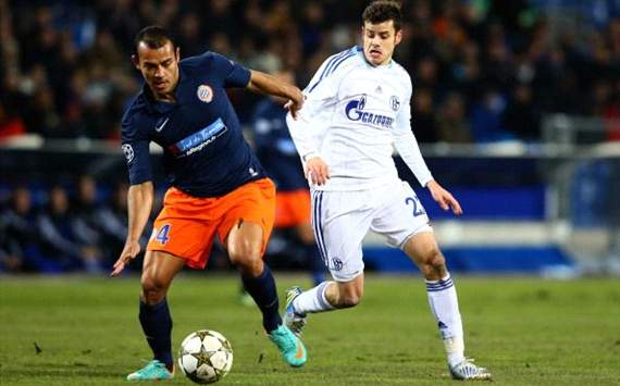Montpellier HSC v FC Schalke 04 - UEFA Champions League - Tranquillo Barnetta v Vitorino Hilton