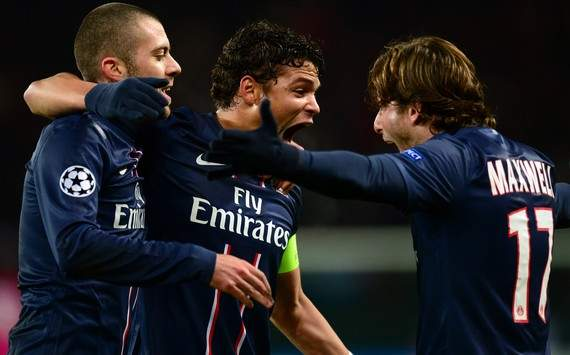 Champions League : Jeremy Menez &amp; Thiago Silva &amp; Maxwell (Paris SG vs FC Porto)