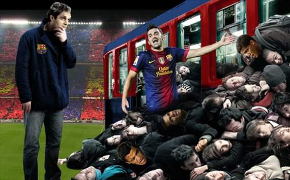 Tito Vilanova, David Villa, FC Barcelona (Fotomontaje)