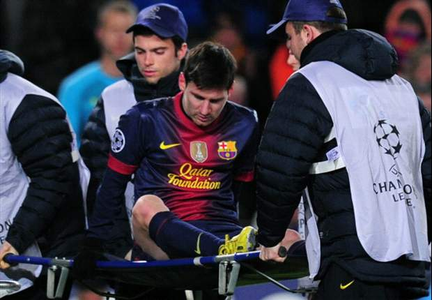 Messi injury looks like a minor knock, says Vilanova
