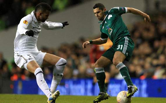 UEFA Europa League, Tottenham Hotspur FC v Panathinaikos FC, Sandro, Nikos Spiropoulos