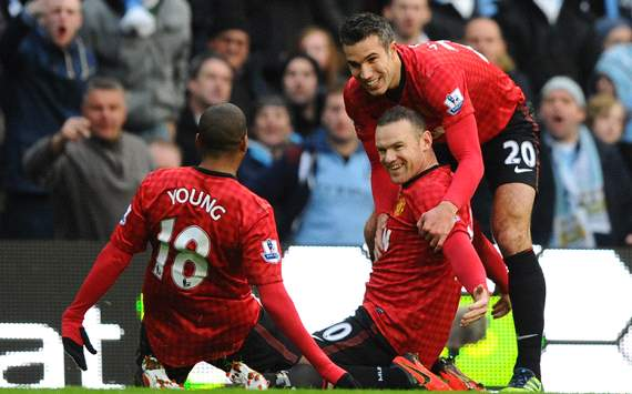 EPL: Wayne Rooney - Ashley Young - Robin van Persie , Manchesster City Vs Manchester United