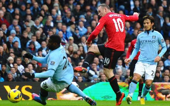 EPL: Wayne Rooney, Manchesster City Vs Manchester United