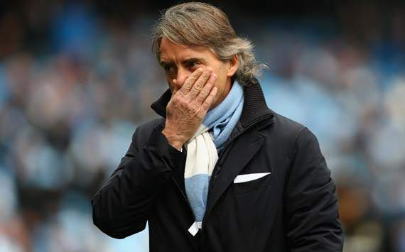 EPL; Roberto Mancini; Manchester City v Manchester United