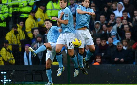 TEAM NEWS: Nasri passed fit for Manchester City as Tevez replaces dropped Balotelli against Newcastle