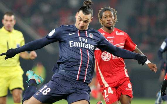 Ligue 1 : Gaetan Bong vs Zlatan Ibrahimovic (Valenciennes vs Paris SG)