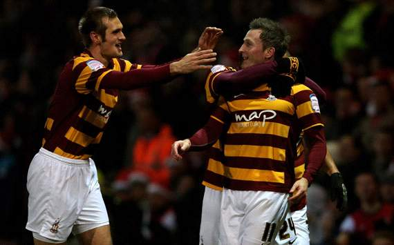 Capital One Cup, Bradford City v Arsenal,  Garry Thompson, James Hanson