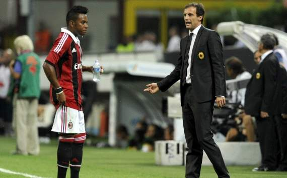 Massimiliano Allegri and Robinho - Ac Milan