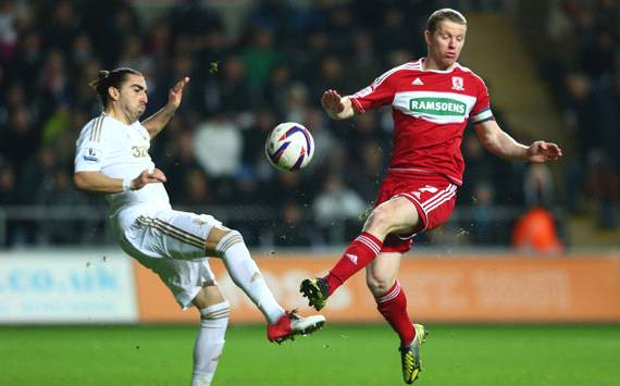 Capital One Cup: Chico Flores - Grant Leadbitter, Swansea City v Middlesbrough