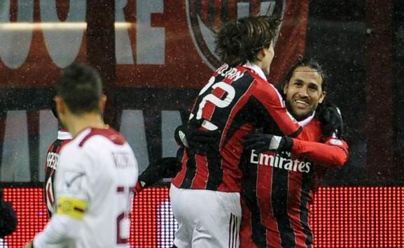 Yepes e Bojan in Milan-Reggina (Coppa Italia)