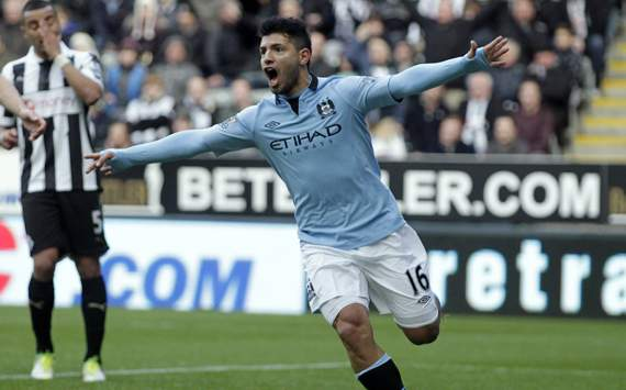 EPL, Manchester City v Newcastle United, Sergio Aguero,