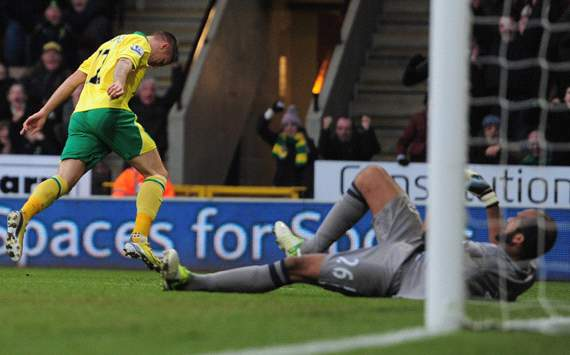 EPL, Norwich City v Wigan Athletic, Anthony Pilkington