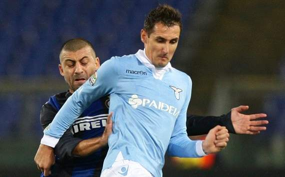 Walter Samuel, Miroslav Klose - Lazio-Inter