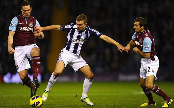 EPL - West Bromwich Albion and West Ham United,  Gary O'Neil, James Morrison and Kevin Nolan
