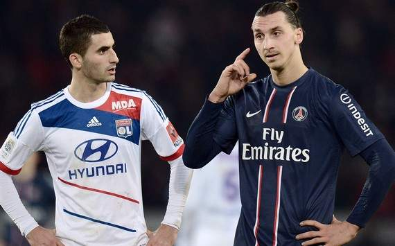Ligue 1 : Zlatan Ibrahimovic vs Maxime Gonalons (Paris SG vs Olympqique Lyonnais)