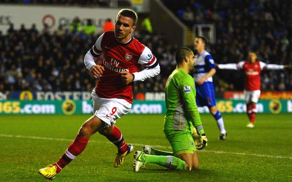 EPL, Reading v Arsenal, Lucas Podolski