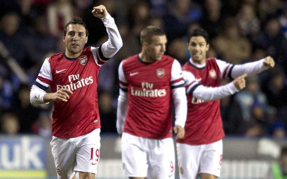 EPL, Reading v Arsenal, Santi Cazorla