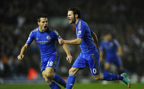 Capital One Cup - Leeds United v Chelsea, Juan Mata and Cesar Azpilicueta