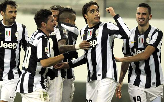 Juventus celebrating