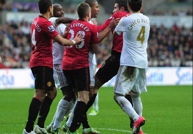 Swansea defender Williams claims Van Persie incident was unintentional