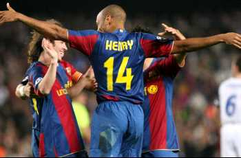 Henry scored a brace against Madrid