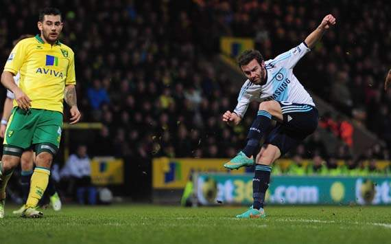 EPL; Juan Mata; Alex Tettey; Norwich City Vs Chelsea