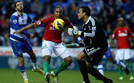 EPL, Reading v Swansea City, Ashley Williams